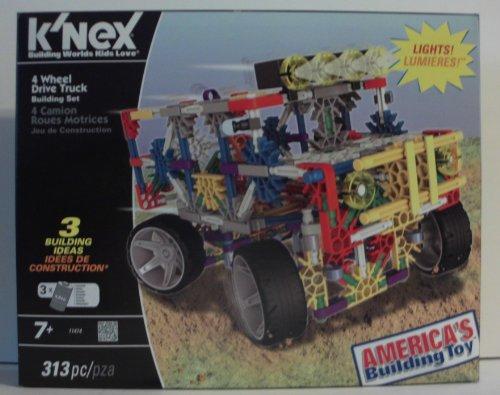 K'nex 4 Wheel Drive Truck Building Set with Lights (Knex Truck)