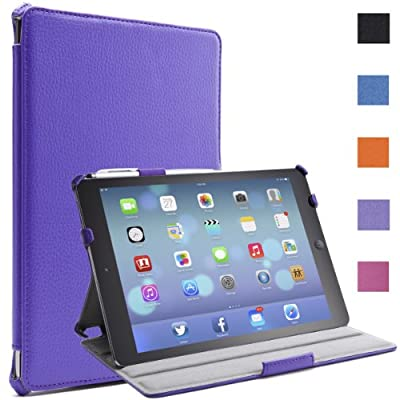 i-Blason Apple iPad Air / iPad 5 Auto Wake / Sleep Smart Cover Slim Folio Book Shell Stand case Cover Wifi 3G 4G LTE with Stylus Loop & Bonus Stylus