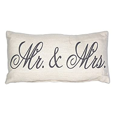 Country House Collection Primitive Cotton 12  x 6  Throw Pillow (Mr. & Mrs.)