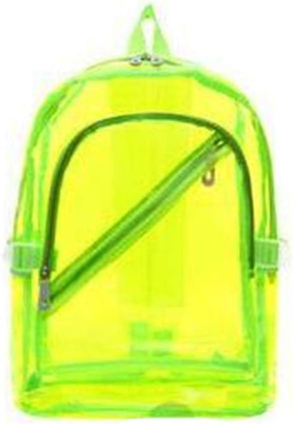 TnXan Nueva Mochila Impermeable Transparente Plástico Transparente para Niñas Adolescentes Bolsas Escolares de PVC Hombros Bolsa Mochila portátil portátil Mochilas Daypacks