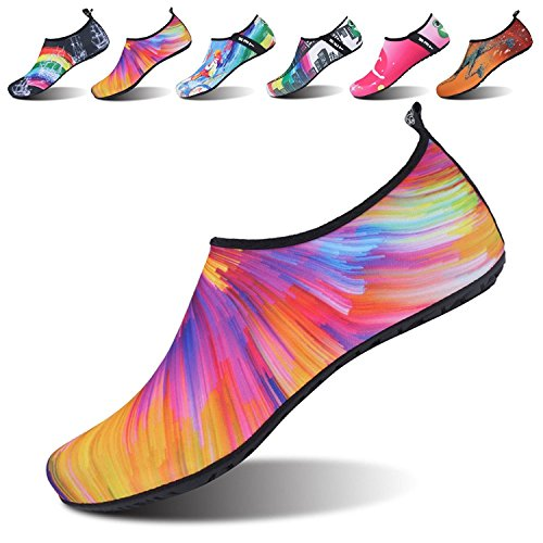 NeuFashion Water Shoes Barefoot Quick-Dry Aqua Yoga Socks Slip-On Design Outdoor Sports Shoes For Men Women Kids,Water Sports Shoes,Diving Shoes Colorful