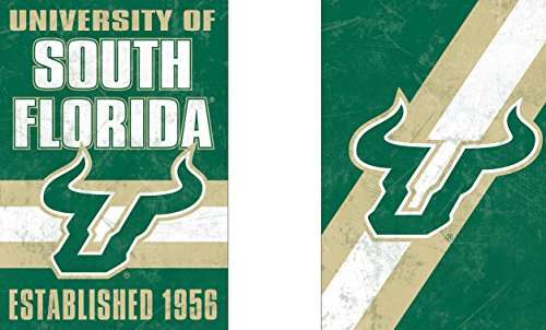 - WinCraft South Florida USF Bulls Garden Flag, Vintage Distressed Edition 12.5 x 18 inches 2 Sided