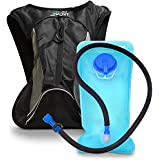 Aduro Sport Hydration Backpack [Hydro-Pro], 1.5L / 2L / 3L BPA Free Water Bladder, Unisex, Water Resistant, Durable, Light Weight, Adjustable Sizing. Great for Hiking, Running, Biking, Camping