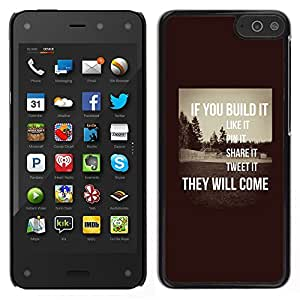 Stuss Case / Funda Carcasa protectora - Inspirer Sépia message intelligent - Amazon Fire Phone