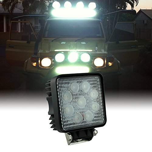 Snowmobile Tow Bar - ONLINE LED STORE 27W Square Flood UTV/Jeep/Truck/SUV/ATV LED Off Road Work Light (More Options Available)