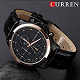 SunShine Day 2015 Curren Quartz Mens Business Casual Watches With Gold Hour Genttlemen Clock Military Vogue Wristwatches , Hot Sale