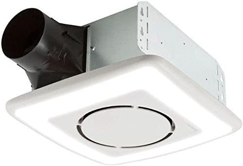 Nutone Invent Series 110 CFM Ceiling Exhaust Bath Fan with Light and Soft Surround LED Technology, Energy Star
