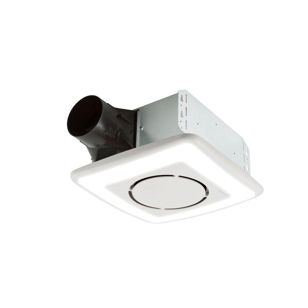 InVent Series 110 CFM Ceiling Exhaust Bath Fan with Light and Soft Surround LED Technology, ENERGY S