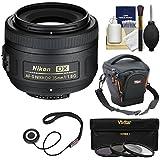 Nikon 35mm f/1.8 G DX AF-S Nikkor Lens with Case + 3 Filters + Kit for D3200, D3300, D5300, D5500, D7100, D7200 Cameras