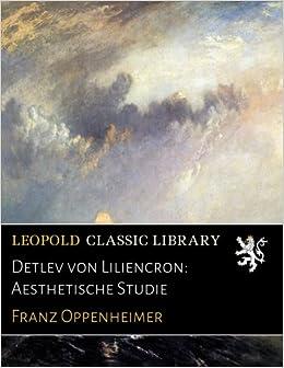 Book Detlev von Liliencron: Aesthetische Studie