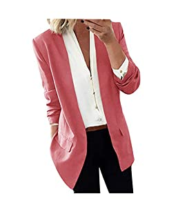 Women Lapel Cape Cloak Jacket Long Coat Blazers Ladies Casual Office Suit Outwear Pink
