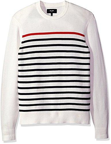 Jack Spade Men's Breton Stripe Crewneck Sweater (White, XX-Large) by Jack Spade