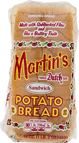 Martin's Sandwich Potato Bread- 16 slice 18 ounces (4 Bags)