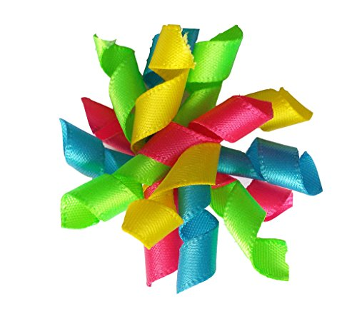 PET SHOW Pet Dog Cat Hair Bows With Rubber Bands Curly Colorful Pack of 20