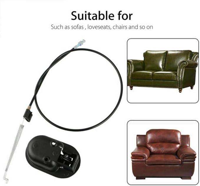 Maniglia Universale per Poltrona reclinabile con Cavo Sinnper Parti di Ricambio reclinabili Maniglia di Rilascio per Divano in Metallo e Divano reclinabile