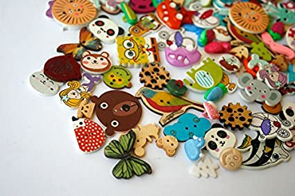 Amazon.com: TomToy 10 Mixed Decorative Buttons, 10 Holes, 10 Holes