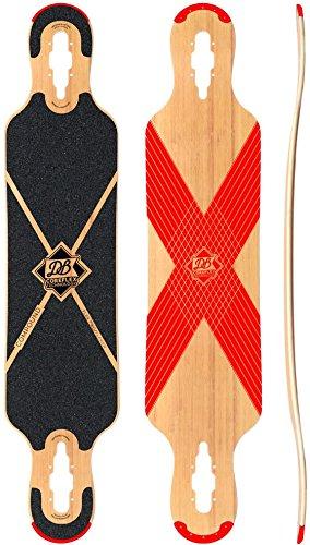DB Coreflex Compund Flex 2 Red Longboard Deck With Grip Tape