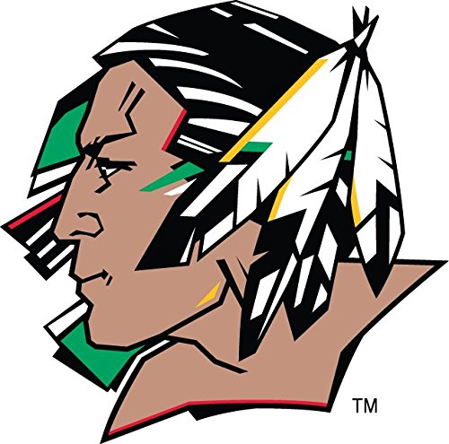 North Dakota Fighting Sioux   20 Pc   2 Inch Contour Cut Industrial Grade Vinyl Sticker   Decal Sheet   Yeti   Diy Projects