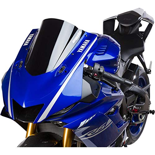 17-18 YAMAHA YZF-R6: Hotbodies Racing GP Windscreen (Dual Radius) (Solid Black)