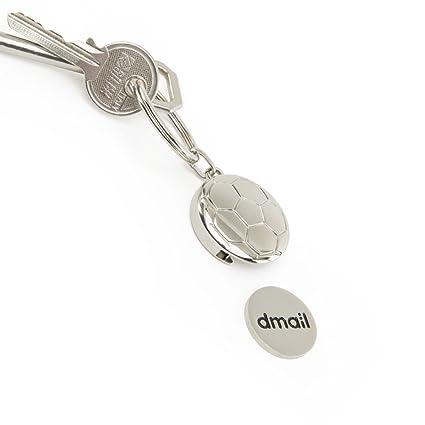 dmail – Llavero con moneda para carro – Balón de fútbol