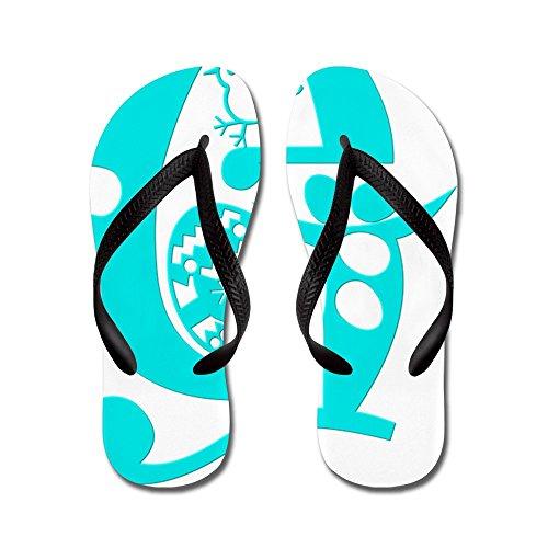 Cafepress G - (eggypeg Lettertype) - Flip Flops, Grappige String Sandalen, Strand Sandalen Zwart