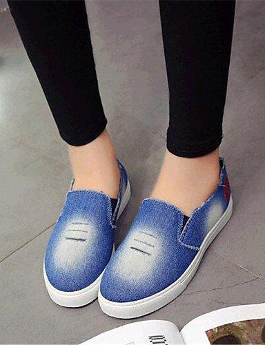 comfort Eu40 us9 mocasines Dark Casual Uk7 Plano Mujer Zq De azul Eu36 Blue Zapatos 5 Cn35 Uk3 exterior us5 Gyht tacón Blue 5 vaquero Cn41 y7q1WBYW