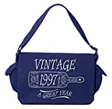 Tenacitee Aged Like a Fine Wine 1952 Royal Blue Brushed Canvas Messenger Bag