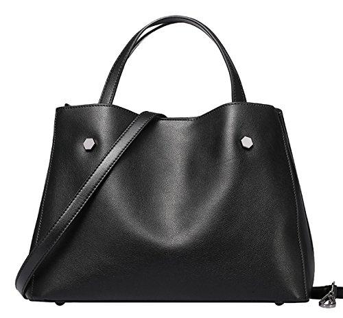 Handbags Shoulder Bags Purple Cowhide Womens SAIERLONG Leather Ladies Designer Genuine Black q0nwBH