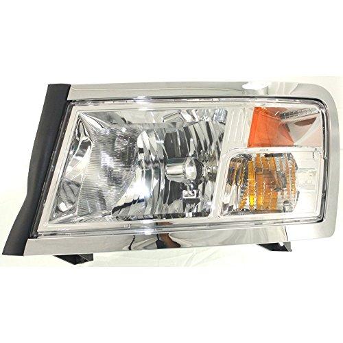 Dodge Dakota Headlight Lh Driver - Headlight for Dodge Dakota 08-11 LH Assembly Halogen Chrome Interior w/Bulb(s) Driver Side