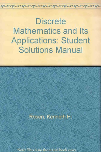 Ga Xvi Download Discrete Mathematics And Its Applications Student