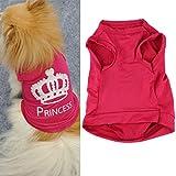FEITONG Cute Fashion Pet Small Dog Cat Princess Vest Summer Puggy T-shirt