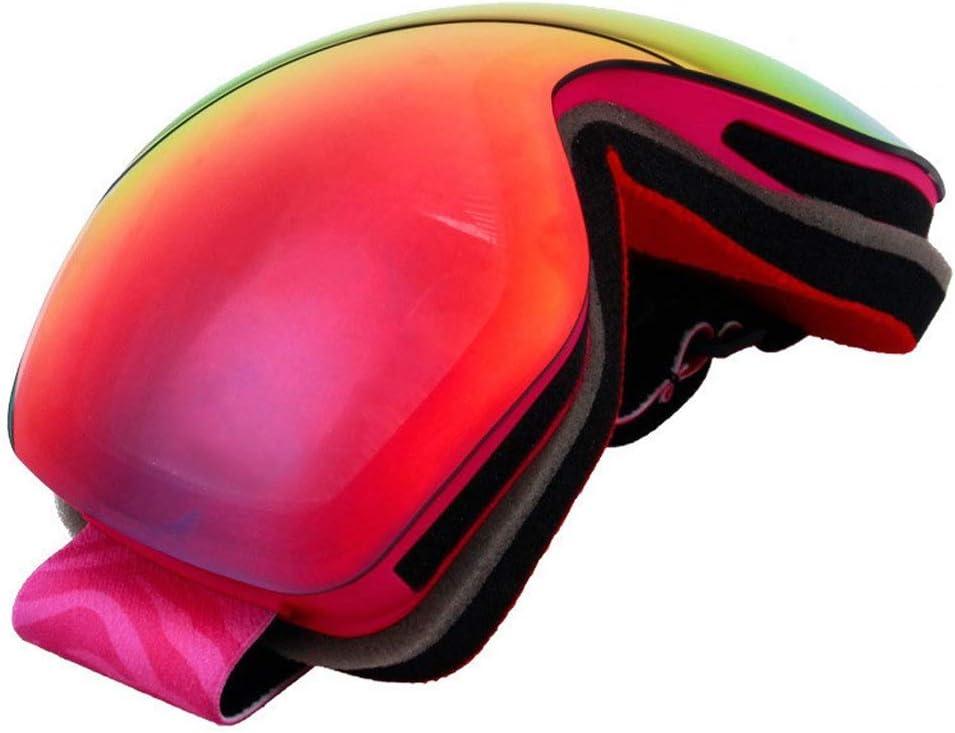 LFOZ 女性のスキーゴーグルダブル防曇グレース登山スキーゴーグルカード近視眼保護具コードオレンジ