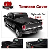 #9: Audrfi Black Soft Vinyl Roll-Up Tonneau Cover Assembly Fit 15-18 F150 5.6' Styleside Bed Truck Bed Cover