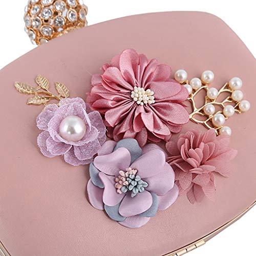 Flower Girls Party Handbag Shoulder Purse Evening Silver Bags Clutch Women Slylive Wedding Prom zf5CwC