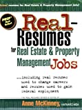 Real-Resumes for Real Estate and Property Management Jobs, Anne McKinney, 1885288468