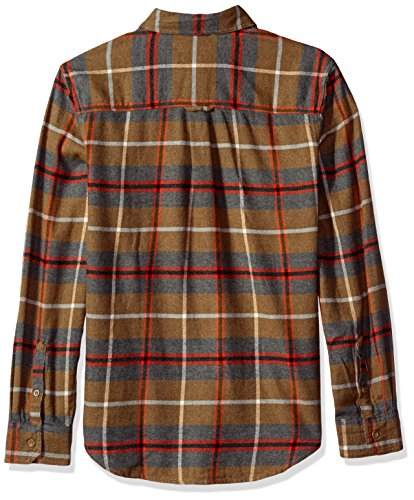 Bottoni Flannel Twisted Cayenne Rich Cotton Uomo Con Multi Da Woolrich Maglia Organic Shirt xFaOUvWwq