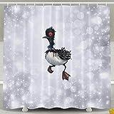 Memoy Findor Beck Bird Home Seasons Non-transparent Bathroom Shower Curtain Includes Plastic Hooks.Made Of High Quality Polyester Fiber.