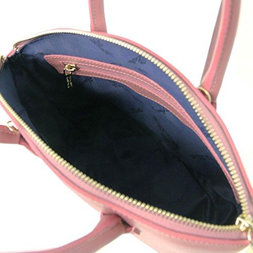 2 Saffiano Pallido Tl141265 Leather Rosa Tuscany Borsetta Piccola In Tl Keyluck Pelle Misura Nera wPnTXZFq