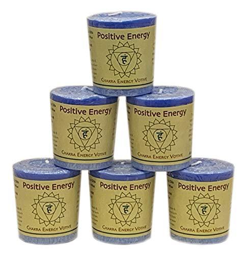 Aloha Bay - 6 Pack of Chakra Votives (2 oz, Positive Energy - Visuddha)