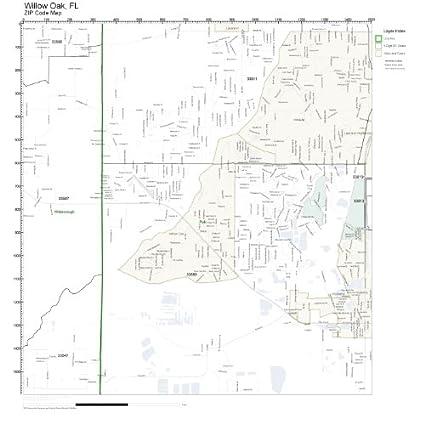 Amazon.com: ZIP Code Wall Map of Willow Oak, FL ZIP Code Map ...