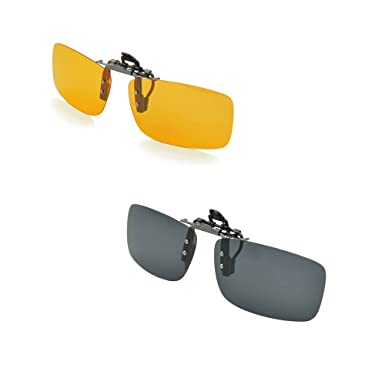 01c4767320c Enem Polarized Clip-on Flip-up Aviator Driving Sunglasses (Men-Women ...