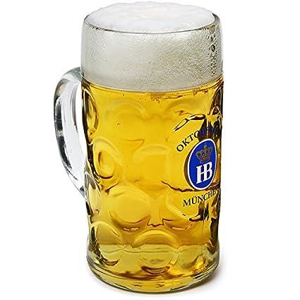 Oktoberfest Glass Stein 1ltrBeer Hofbrauhaus Official 35oz zUMVpS