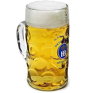 Hofbrauhaus Official Oktoberfest Stein Glass 1040ml / 1ltr Beer Tankard, Beer Stein, Beer Mug German Beer Stein, Beer Festival Tankard