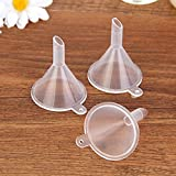 WDDH 1pcs Mini Clear Plastic Funnels Filling Small Samples Perfume Liquid