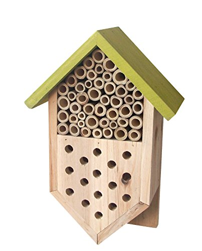 Tierra Garden 14-1754 Wooden Bee and Ladybug House, Small