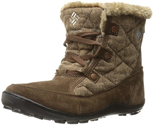 Columbia Women's Minx Shorty Omni-Heat Wool-W Winter Boots, Brown Umber/Dark Mirage