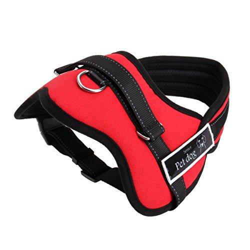 Gankarii No-Pull Padded Adjustable Dog Training Walking Harness Vest, Red,...