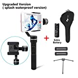 Feiyu SPG (Splash waterproof version with extra battery and Tripod )3-Axis Handheld Gimbal Stabilizer for Gopro Hero5/4/3 and Smartphone Like iPhone X/8/7 Plus 6 Plus Samsung Galaxy S8+ S8 S7 S6 S5