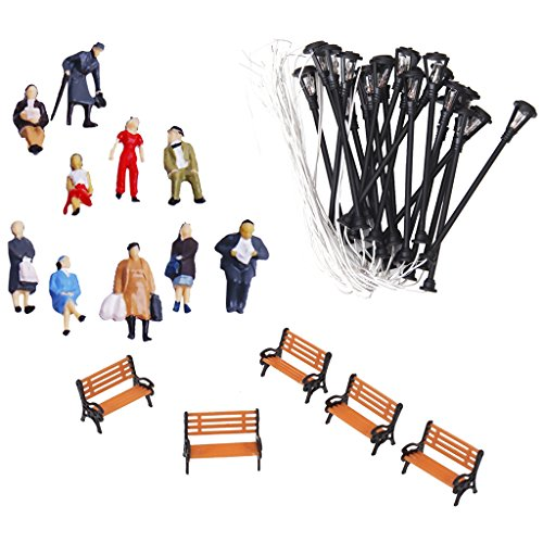 (Jili Online People Figures/Bench Models/Lamppost Lights Models for HO Scales Layout Accs)