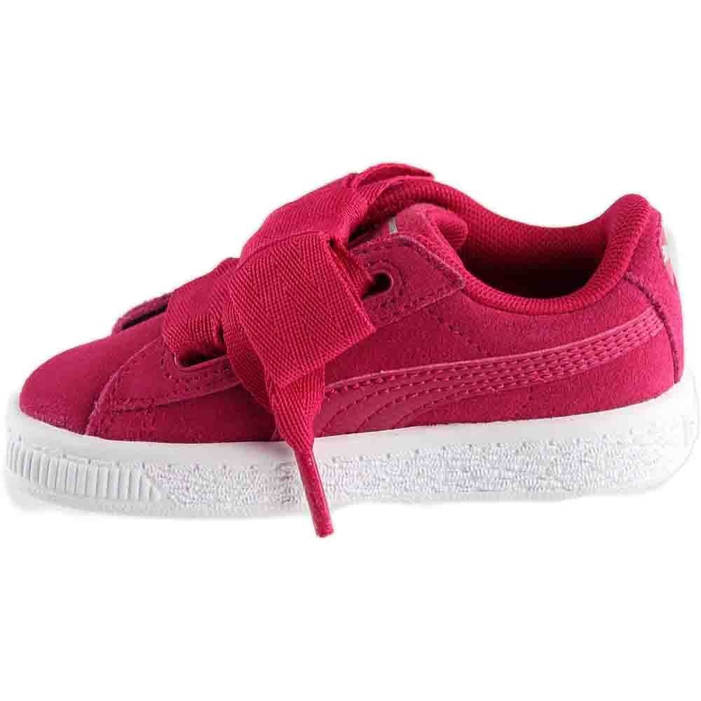 PUMA Unisex-Kids Suede Heart SNK,Love Potion/Love Potion,7 M US Toddler by PUMA (Image #4)